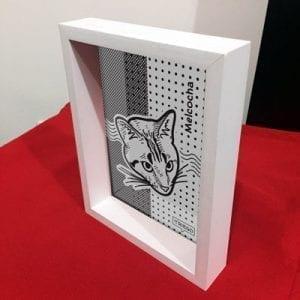 Cuadro de mesa con tu mascota ilustrada