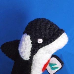Juguete en lana: Elena la ballena