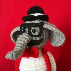 Juguete en lana: Dante el elefante